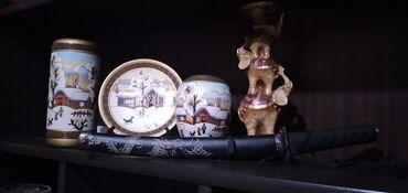 Продаются сувенирные наборы. Самурайский меч статуэтка из слонов