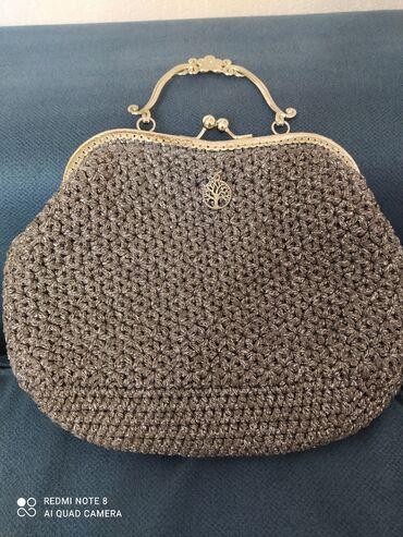 10781 объявлений: Ридикюль сумочка, ручная работа,новая, размер 28×22см,серого цвета с