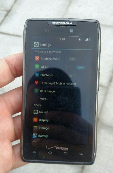Bakı şəhərində Motorola Droid Razr,qeydiyyatdan kecib tam islekti,android sistemdi