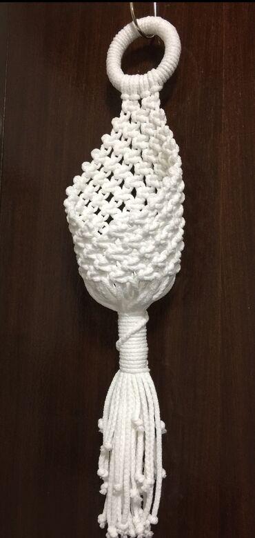 """NOVO! Makrame """"gnezdo"""" dekorativni viseći držač za cveće.Pogodan za"""
