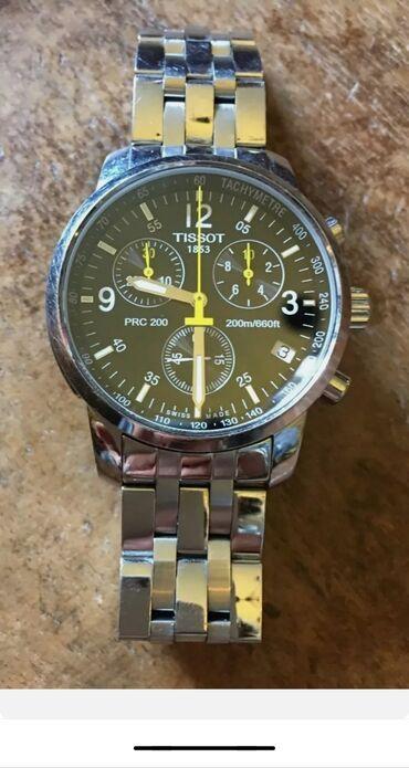 tissot pr100 automatic в Кыргызстан: Серебристые Мужские Наручные часы Tissot