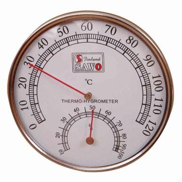 Термометр-гигрометр Sawo 0-120°c для бани в Бишкек