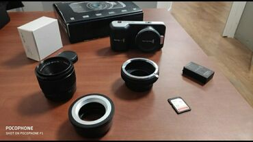 blackmagic production camera 4k в Кыргызстан: Blackmagic Pocket Cinema Camera, CINECAMPOCHDMFT кино камера суротко т