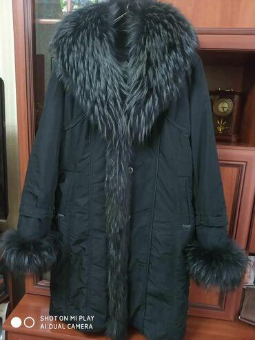 Пальто очень теплое, кроличья подстежка, длина 1метр. Размер 52-56