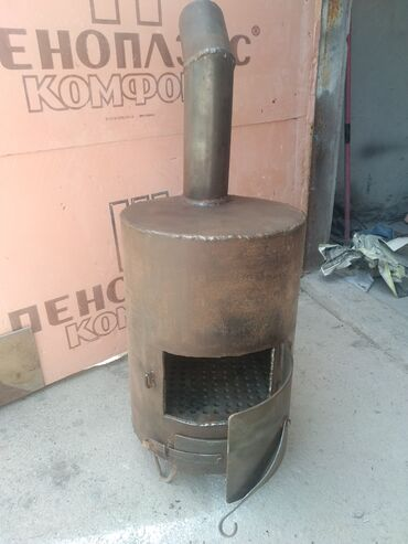 Печи и камины - Кыргызстан: Буржуйка.Толщина корпуса - 7мм., толщина