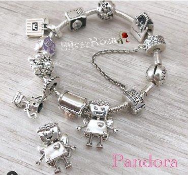Браслеты в стиле пандора - Кыргызстан: Серебряные браслет Пандора и новые шармы  Браслеты Пандора: по 2300-2
