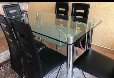 Metbex masasi ve 6 oturacagi satilir.200 azn.ela