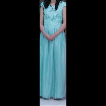 платье футляр голубое в Кыргызстан: Продаю платье! Одевалось один раз Сшито на заказ