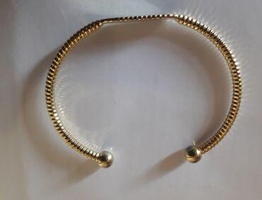 Красивый браслет для изящных ручек, под золото, качественная