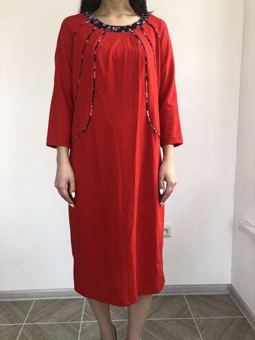 летнее платье свободного кроя в Кыргызстан: Платье новое (с этикеткой) летнее 48 р