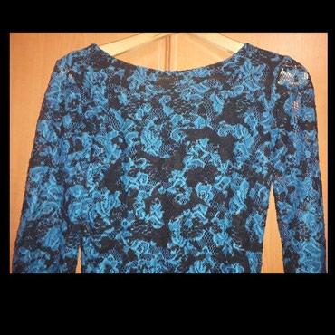 Prelepa crno-plava čipkasta haljina - Nis