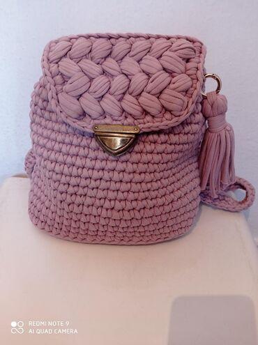Ручная вязанный рюкзак 1000сом