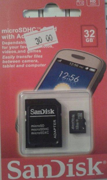 Bakı şəhərində Mikro cd kart 32 gb / klass 10   -   san disk, yaddaş kartl, memori