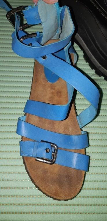 Zenske plave sandale Broj 39 U odlicnom stanju - Kragujevac
