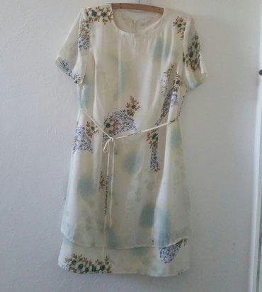 Jako fina bela haljina sa cvetnim printom, M velicina. Ramena 40 cm, - Ruma