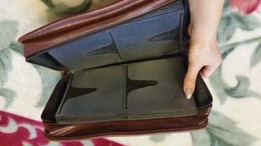 зажимы для денег в Азербайджан: Кожаная сумка для дисков (96шт)
