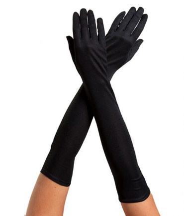 Черные атласные перчатки выше логтя Women's Accessorise Gloves New ! в Bakı