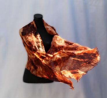 Дизайнерские шелковые шарфы. Авторская техника росписи. Шелк эксельсио