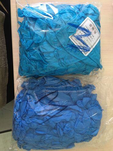 Китайский привоз нитриловых перчаток размер М без коробок в пакетиках