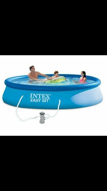 Pumpa za vodu - Srbija: Intex Bazen Easy Set 396 x 84 cm sa prstenom i pumpom - Kapacitet vode