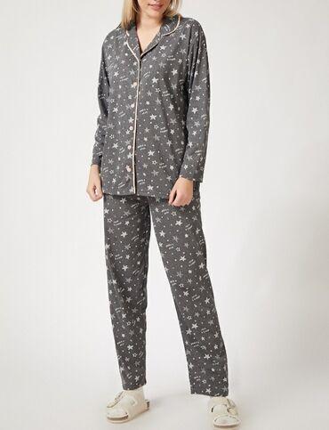 pijama - Azərbaycan: Gözəl ulduzlu boz rəngdə pijama