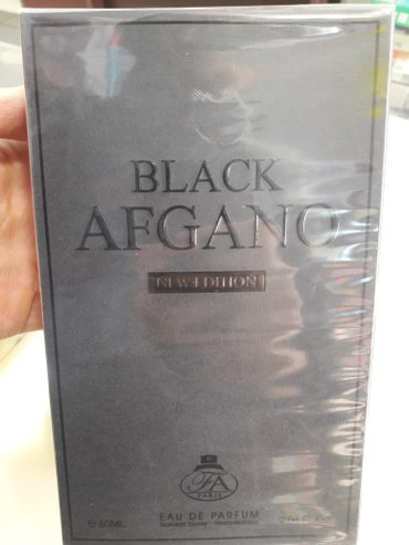 Bakı şəhərində Dubay istehsalı Black Afgano.Qoxusunun qalıcılığına zəmanət verilir.