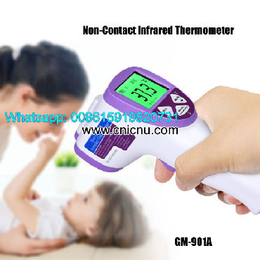 Non-Contact Infrared Thermometer  Model: GM-901A  Features: 1. Backlig