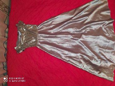 вечерние платье в пол в Кыргызстан: Вечерние длинное платье в сером цвете вверх полностью в поетках