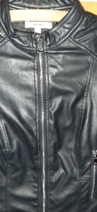 Jakna koza - Srbija: Kozna jaknica vrlo lepog izgledabrendirana,nosena par putabez