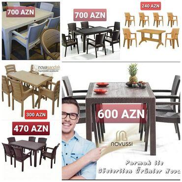 rattan - Azərbaycan: Hər növ plastik stol,stul.Plastik masa.Tökmə plastik.Rattan