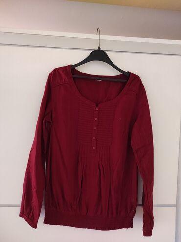 S.Oliver pamucna bluza. Bordo boja. Iz uvoza kao nova. Poluobim grudi