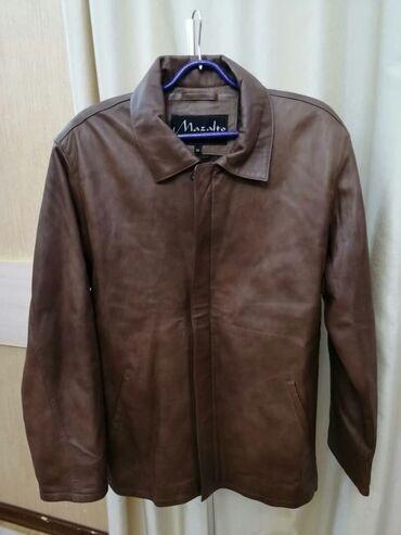 Турецкаякожанная,новая мужская демисезонная куртка 46-48 размер