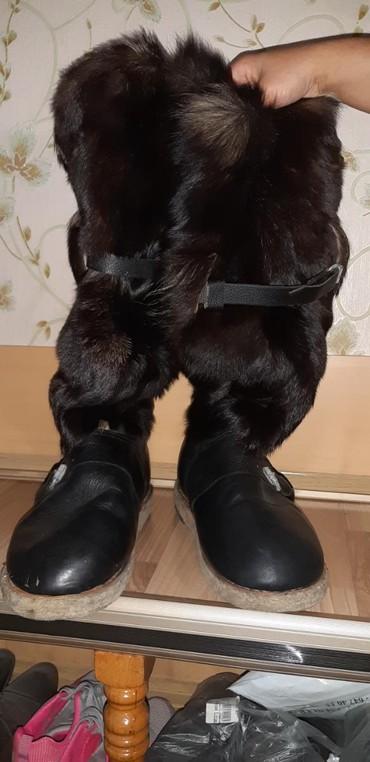 Продаются зимние сапоги из натуральной собачьей шерсти советского