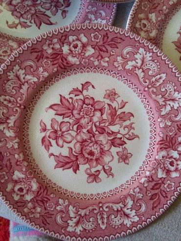 Engleski porculan 6 tanjirica za kolace staro ali ocuvano - Sombor