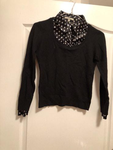 MNG Mango džemperčić, sa košuljicom od satena ispod. Veličina S. - Crvenka