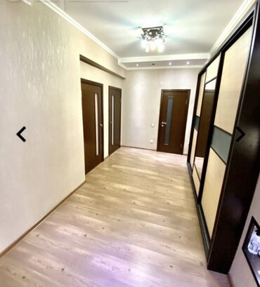 Продажа квартир - Жженый кирпич - Бишкек: Элитка, 3 комнаты, 130 кв. м Теплый пол, Бронированные двери, Видеонаблюдение