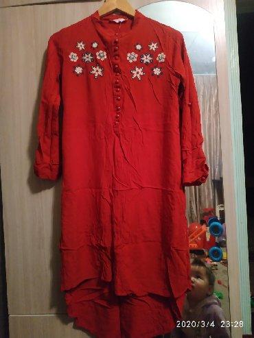 Платья в Ак-Джол: Очень красивое платье рубашка размер 46-48, материал хлопок одела 2