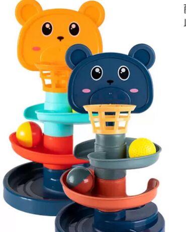 Развивающая игрушка горка-спираль. В комплекте два шарика