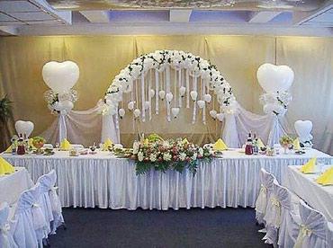 Свадебное оформление зала в Бишкек