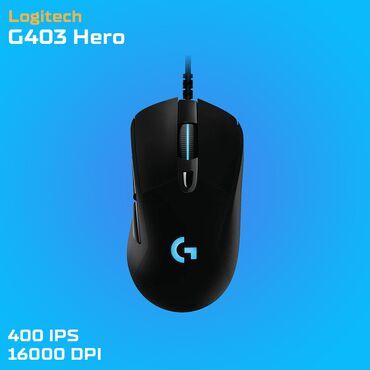 isma hero - Azərbaycan: Logitech G403 Hero - RGBProfessional Gaming MouseYeni - Bağlı