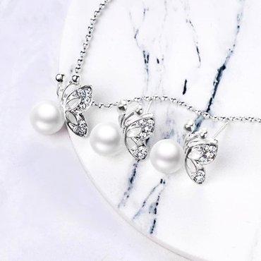 Jewellery Sets - Srbija: Lancic sa priveskom i mindjuse  Novo