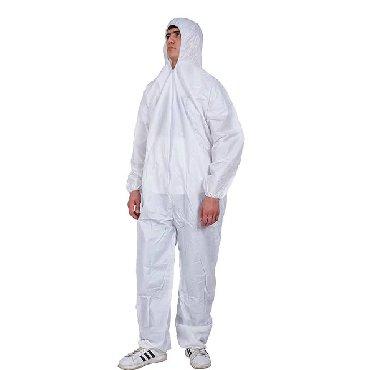 Защитные костюмы(бесплатно маски)материал комбинезона состоит из