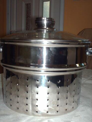 Kuća i bašta - Subotica: Rostfraj cediljka za kuvanje testenina sa dodatkom posude za kuvanje