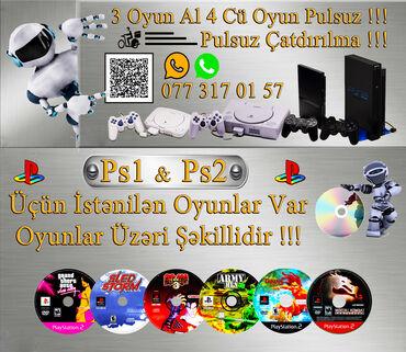 3 Oyun Alana 4Cü Disk Pulsuz !!!Pulsuz Çatdırılma !!!Oyunların Hər