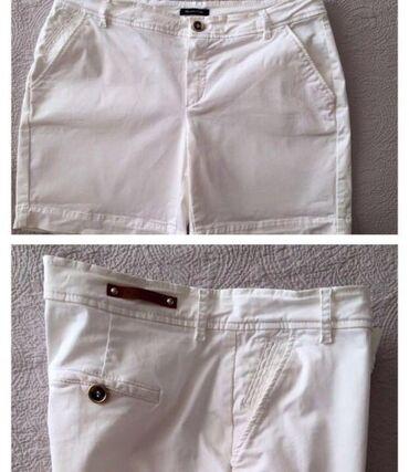 Женская одежда - Беш-Кюнгей: Шорты фирменные massimo dutty белый и темна синий обе за 300сомразмер