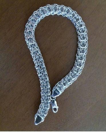 Xırdalan şəhərində Gümüş qolbaq əldə olur çatdırılma var təmiz gümüş