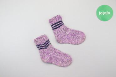 Дитячі в'язані шкарпетки     Довжина підошви: 16 см  Стан гарний, є не