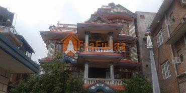 A strong flat system house having land area 0-10-0-0 of 3.5 floors, in Kathmandu
