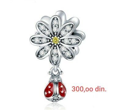 Pandora privezak - Srbija: Privezak za Pandoru,silver sterling Bubamarica