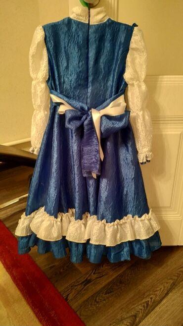 Красивое платье на девочку 7-9 лет.Б/У. Лёгкое, длинное. Шилось